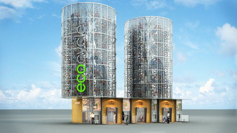 Eco Cycle is a solution for mass storage of bikes