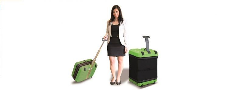 Fugu Inflatable Suitcase transforms from carry-on to full-size in seconds