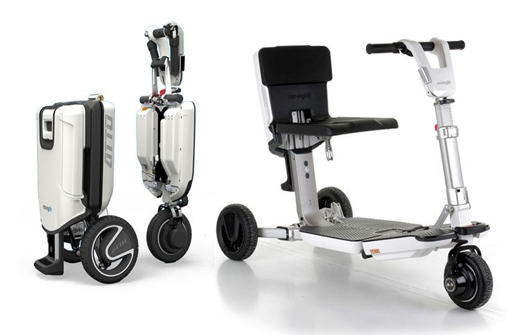 Folding mobility scooter that folds within seconds to a trolley ...