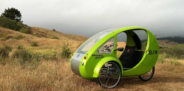 ELF tricycle is a pedal, solar electric assist Eco-commuter