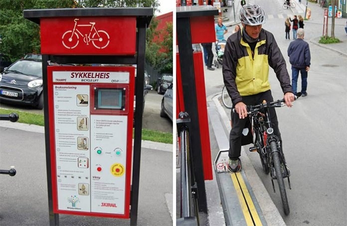 Norway-CycloCable-Bike-Escalator