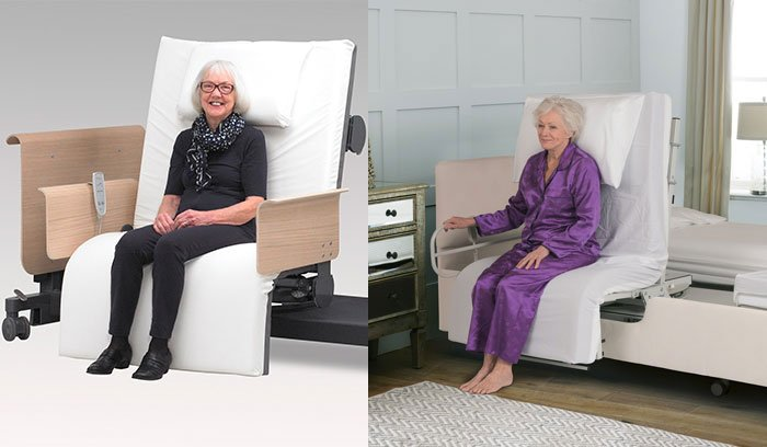 Amazing Rotating Beds A Modern Solution To Limited Mobility Bralicious Painted Fabric Chair Ideas Braliciousco