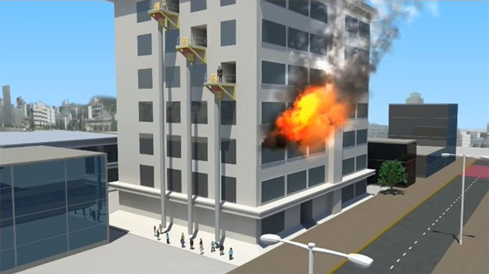Vertical Escape Chute for emergency evacuation from high-rises