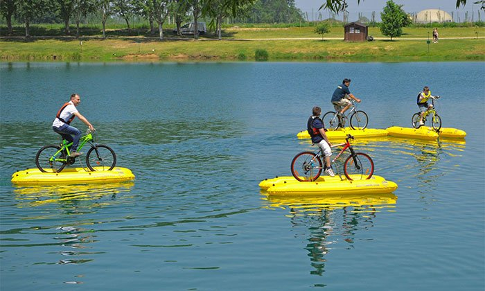 Turn any bicycle into a boat with this kit