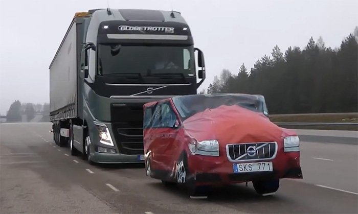 New Volvo braking system can stop a semi on a dime