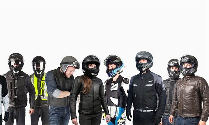 Airbag jackets for motorcyclists