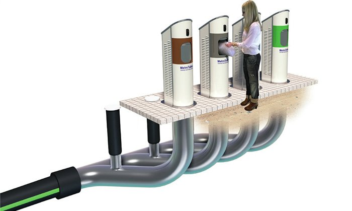 Automatic waste collection system works like a giant vacuum cleaner