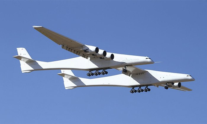 The world's largest plane takes flight; can air-launch rockets into space