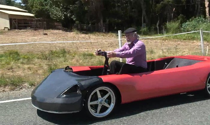 HumanCar is powered by the rowing motion of the driver and passengers