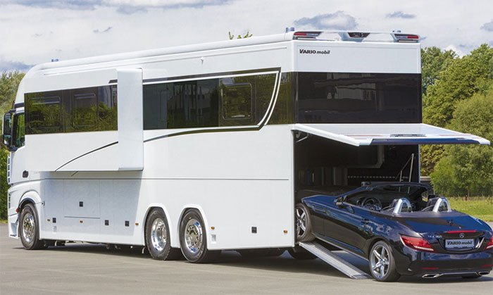 Luxurious $1 million motorhome sleeps a family of six and your Porsche
