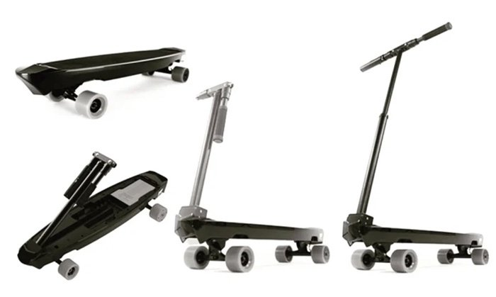 MADBOARD electric board can be used as skateboard and kick scooter