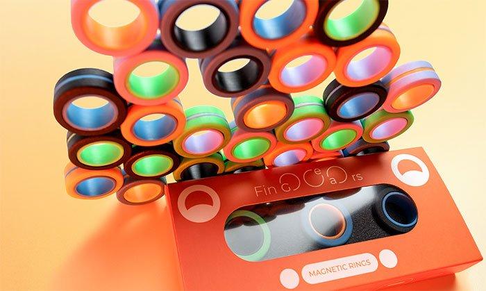 FinGears Magnetic Rings: anti-stress fidget for games