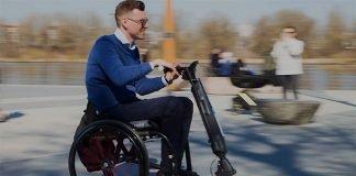 Blumil-Go-Electric-Handbike-Attachment-Manual-Wheelchair