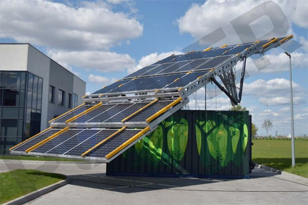 MOVEit Mobile Solar Container Sun Tracking