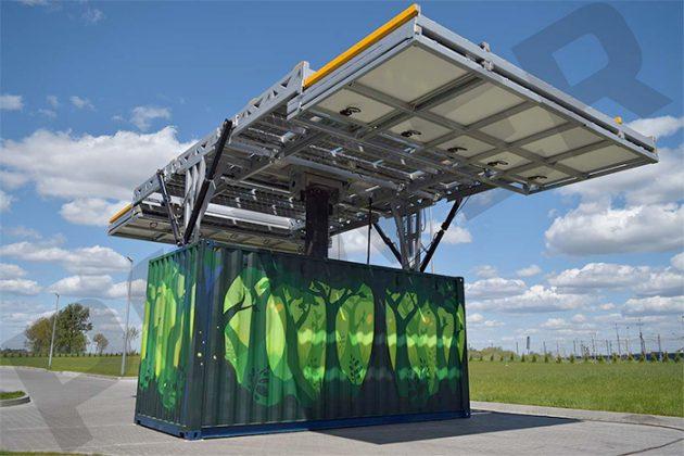 MOVEit PV Panels Unfolding